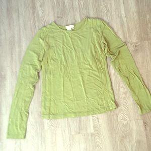 Green longsleeved top